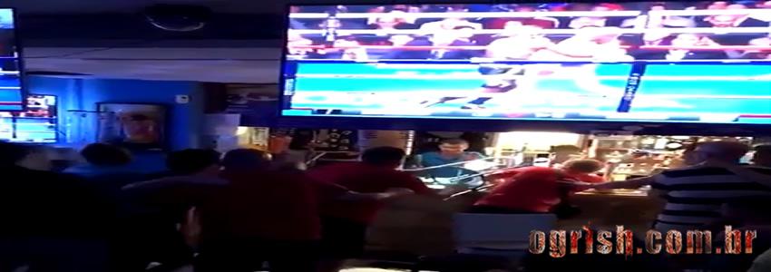 Briga em bar durante luta de Mcgregor x Mayweather