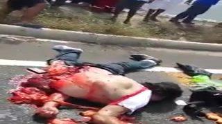 Homem fica com intestino para fora após acidente fatal