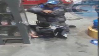 Frentista de posto de gasolina castiga ladrão
