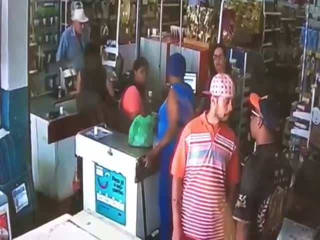 briga no supermercado