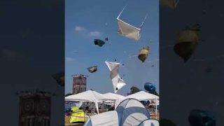 Tornado em festival de música eletrônica Parookaville 2018